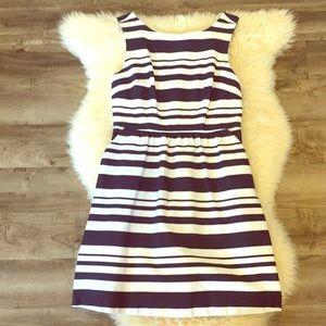 The Limited Navy & White Striped Dress